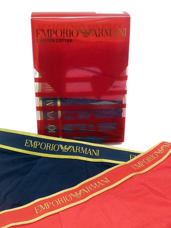 2 Pack Boxers Armani en Rojo y Azul