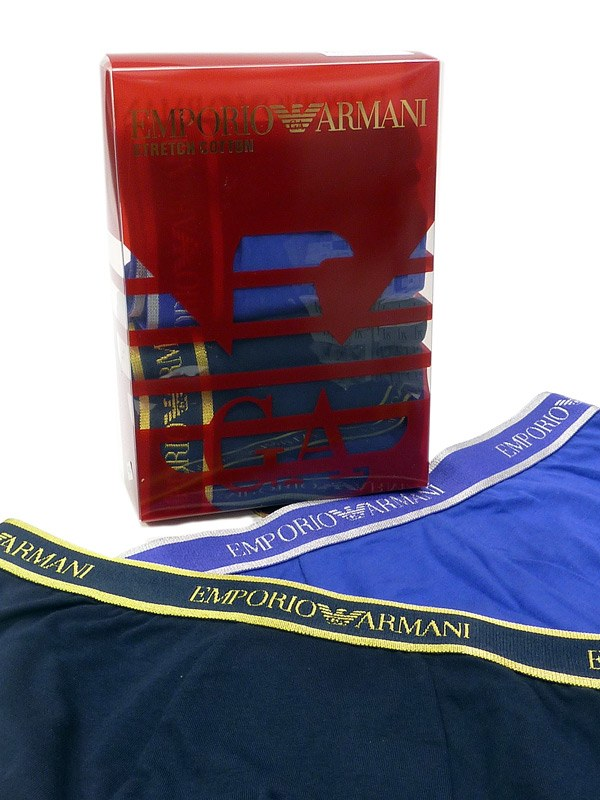2 Pack Boxers Armani en Oro y Plata