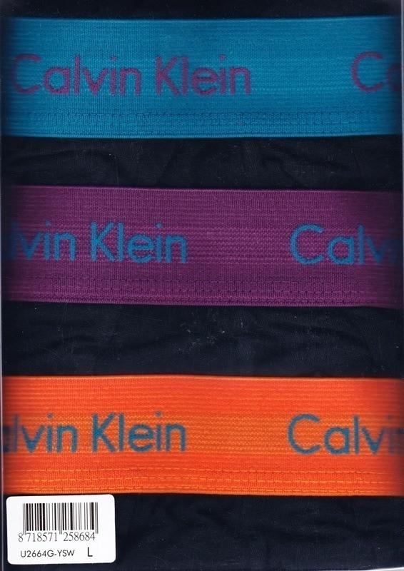 3 Pack Calvin Klein Boxers negros