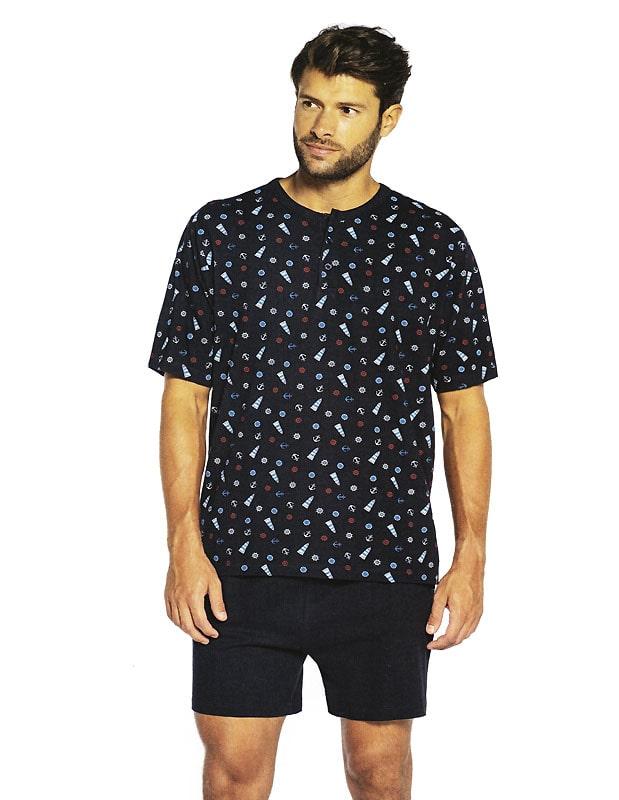 T.E. - Pijama Guasch de Algodón con motivos marítimos