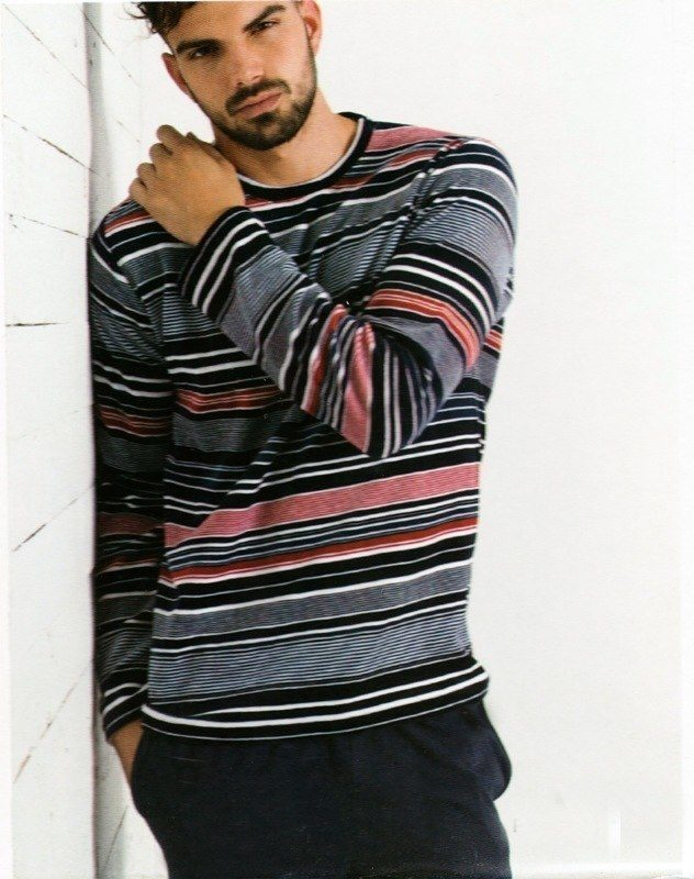 Pijama Admas de Terciopelo a Rayas
