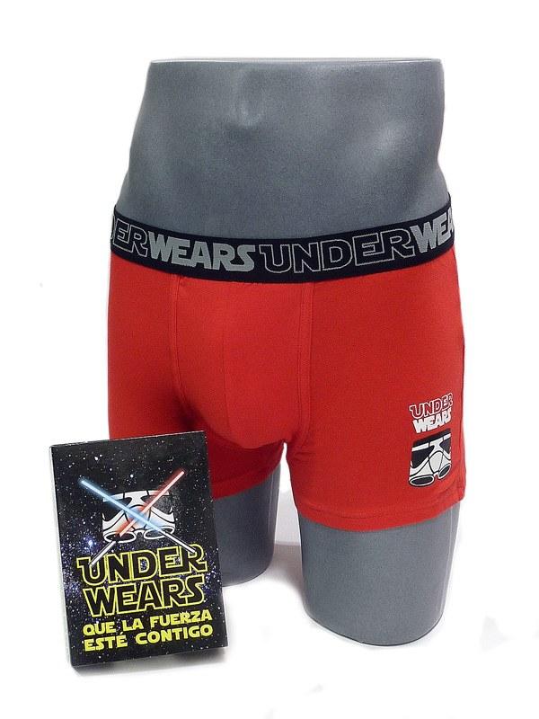 Boxer Admas White Star en Rojo