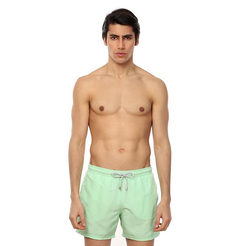 Bañador John Frank liso en verde claro