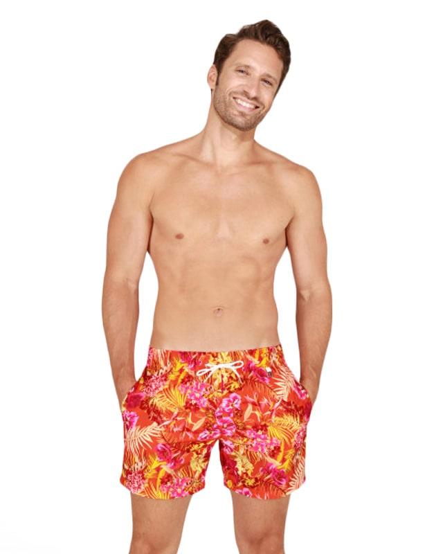 Bañador Hombre HOM Equatorial en naranja
