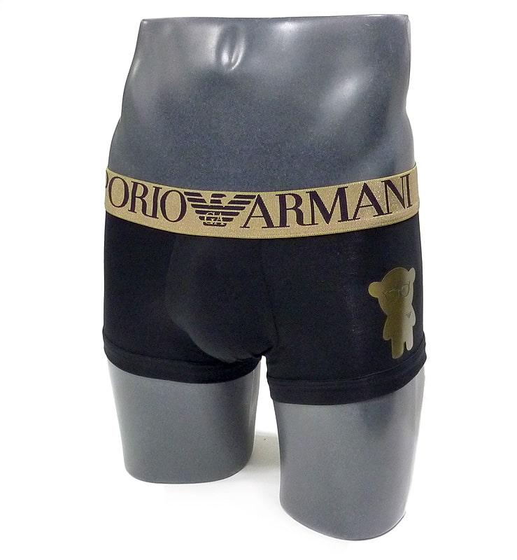 Boxer Emporio Armani Algodón Bear en negro
