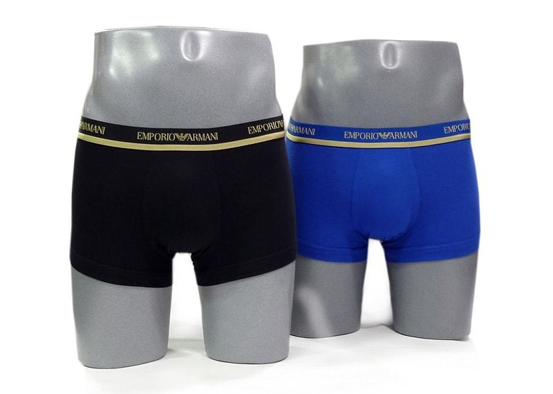2 Pack Boxers Armani en Azul y Negro
