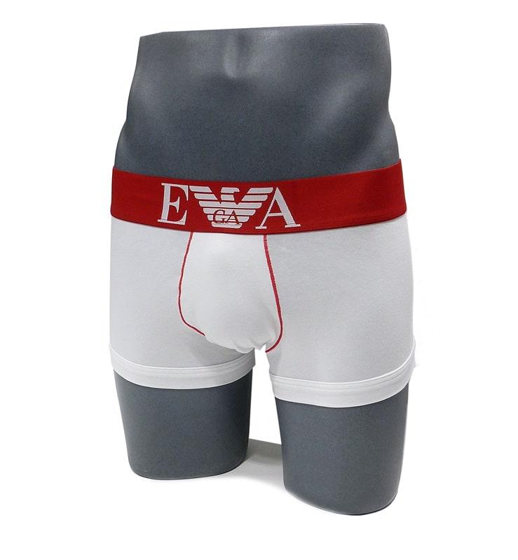 Boxer Emporio Armani en algodón en blanco y rojo