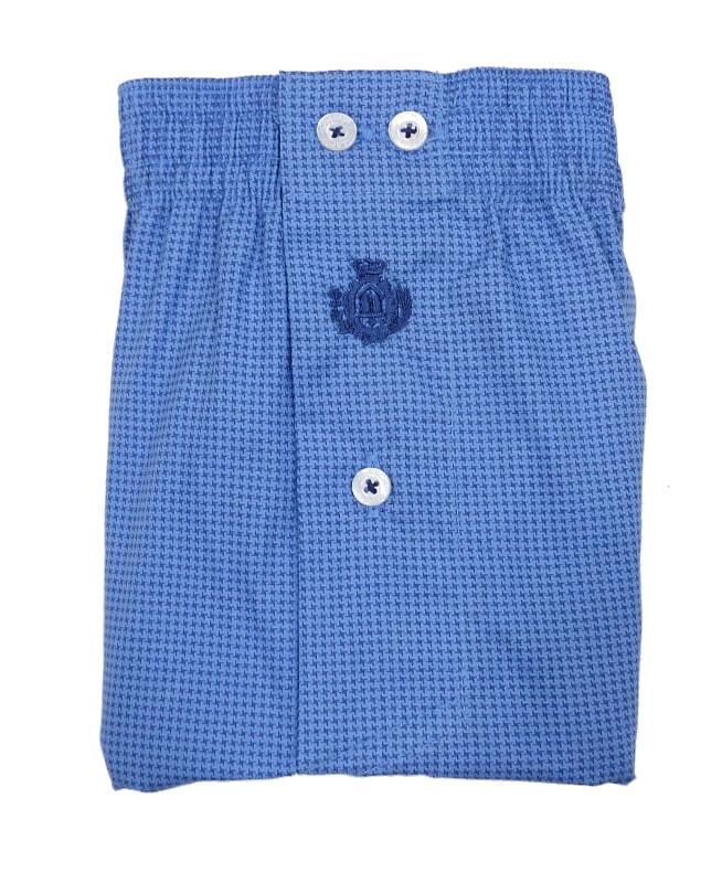 Boxer Guasch de tela azul con estrellitas