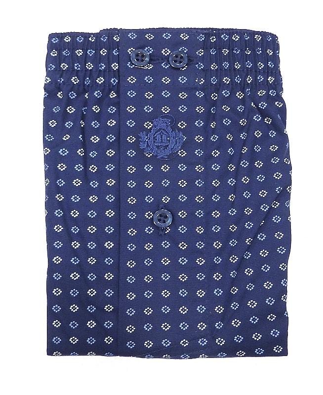 Boxer Guasch de tela en azul marino y estampado geómetricos