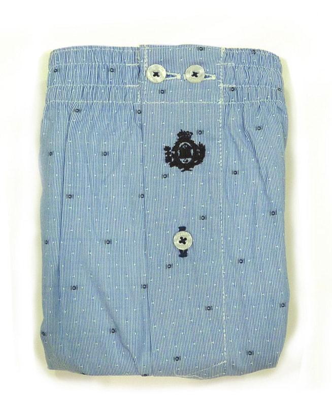 Boxer Guasch de tela azul topitos (hasta 4XL)
