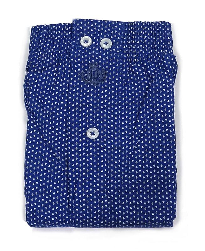 Boxer Guasch de tela azul, topitos blancos (hasta 4XL)