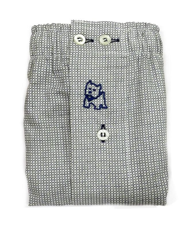 Boxer Kiff-kiff de tela a cuadritos en gris