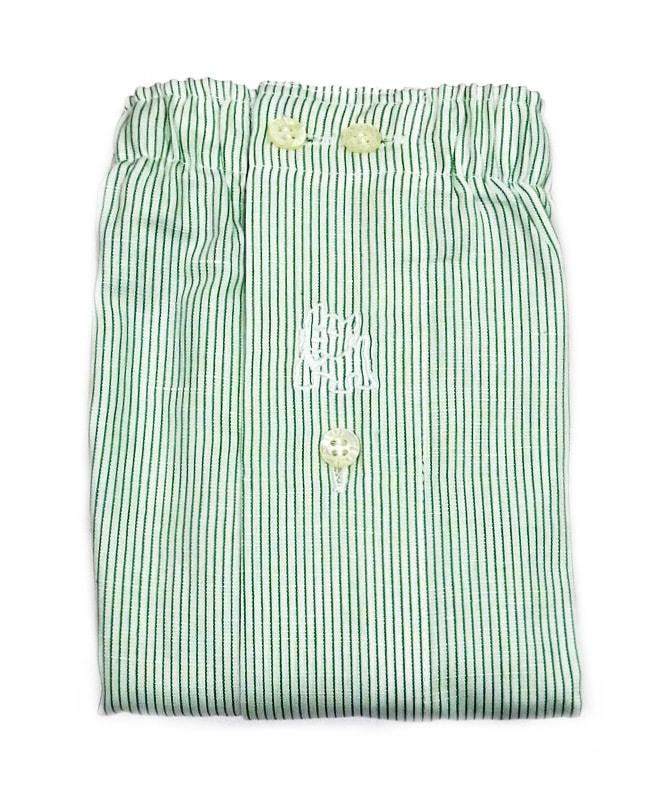 Boxer Kiff-kiff de tela a rayitas en verde