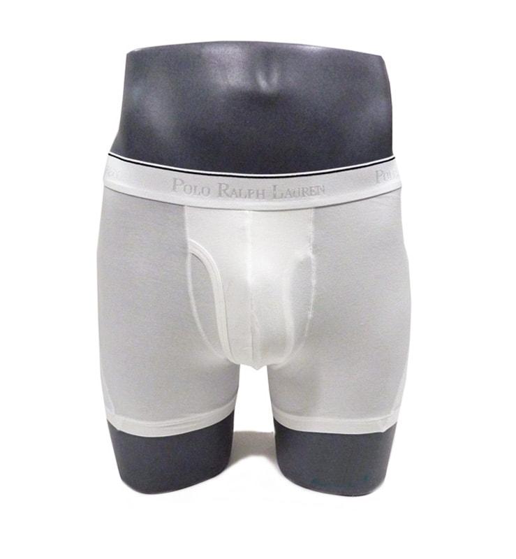 Boxer Polo Ralph Lauren con abertura blanco