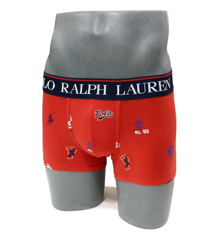 Boxer Polo Ralph Lauren estampado de logos en rojo