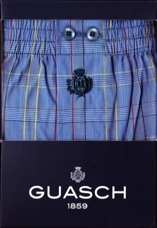 Boxer Tela Guasch Cuadros Azul