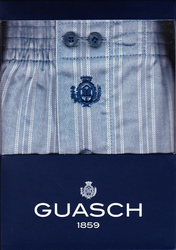 Boxer de Tela Guasch en Rayas Azul