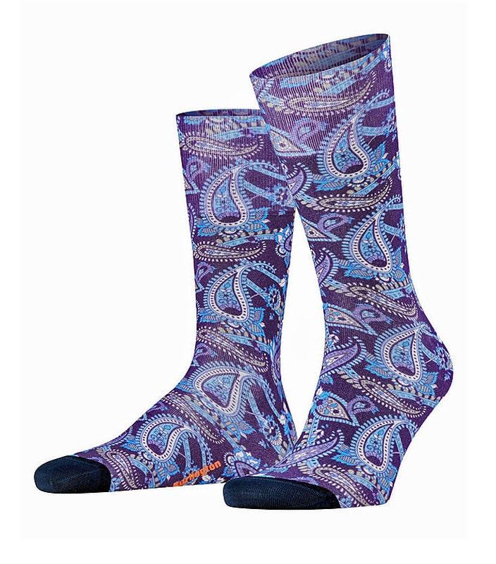 Calcetines Burlington Fashion Paisley Print de algodón