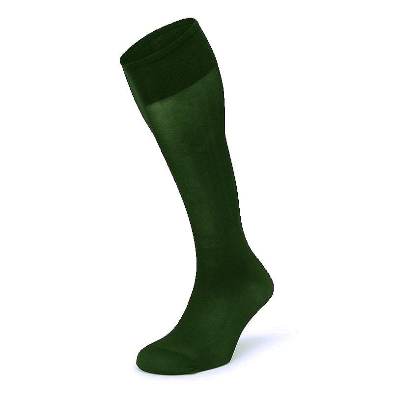 Calcetín Ejecutivo Antipresión Alto en Verde Botella