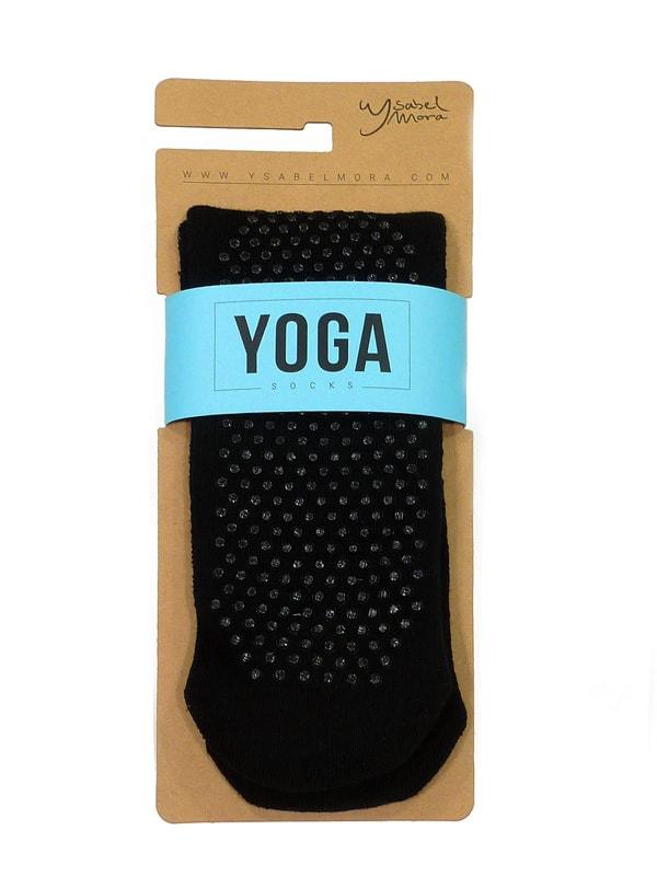 Calcetín Ysabel Mora antideslizante Yoga en negro