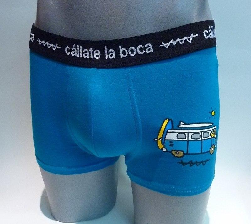 Boxer Furgo Surf Cállate la Boca, azul