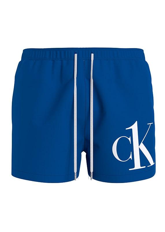Bañador Calvin Klein Short Logo en azul