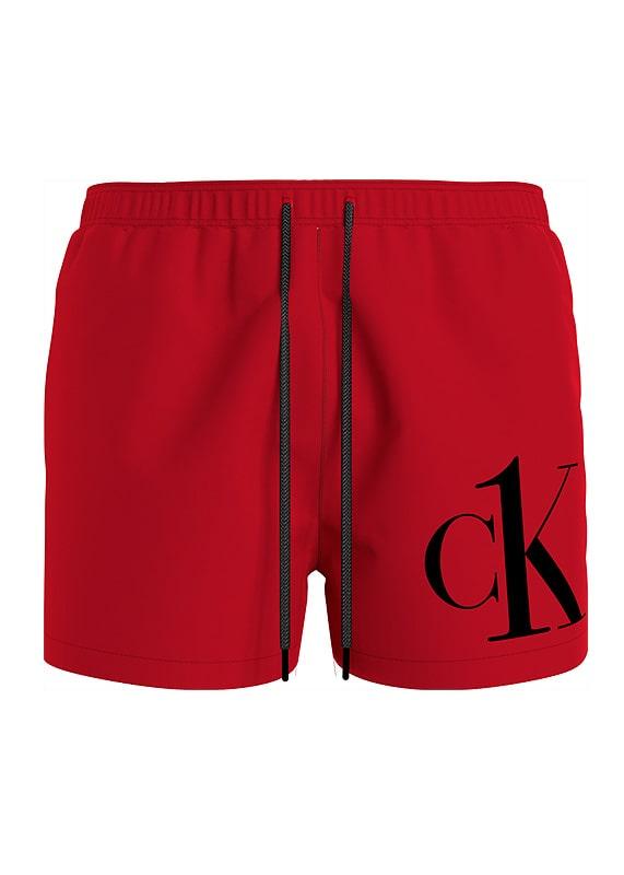 Bañador Calvin Klein Short Logo en rojo