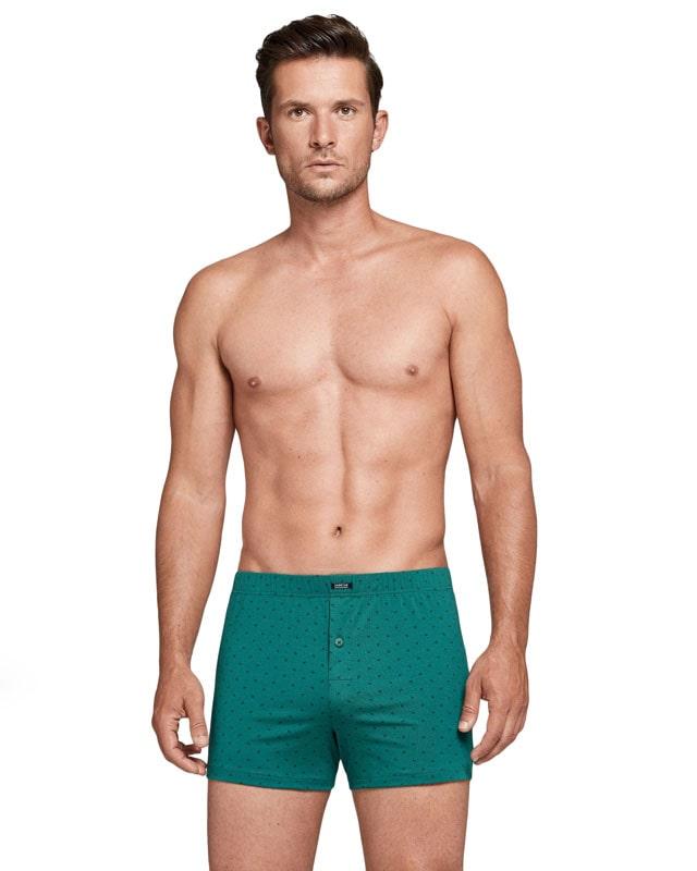 Boxer Impetus de punto en Algodón y color verde