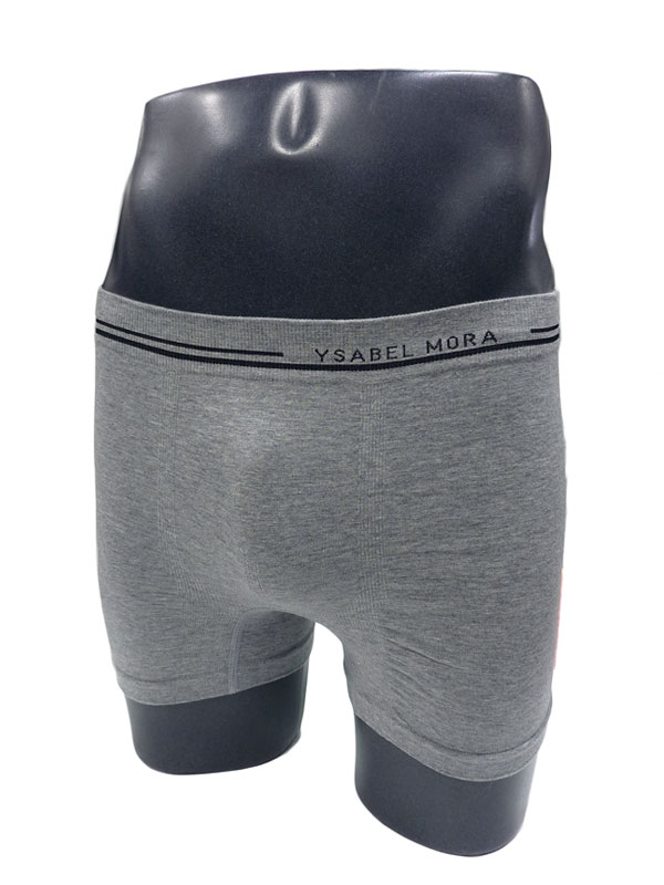 Calzoncillo sin costuras Ysabel Mora en algodón en gris
