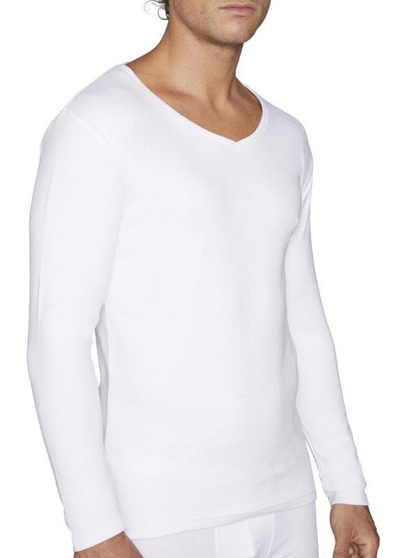 Camiseta Afelpada Ysabel Mora de manga larga y cuello pico