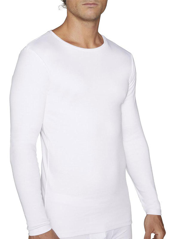 Camiseta Afelpada Ysabel Mora de manga larga y cuello redondo
