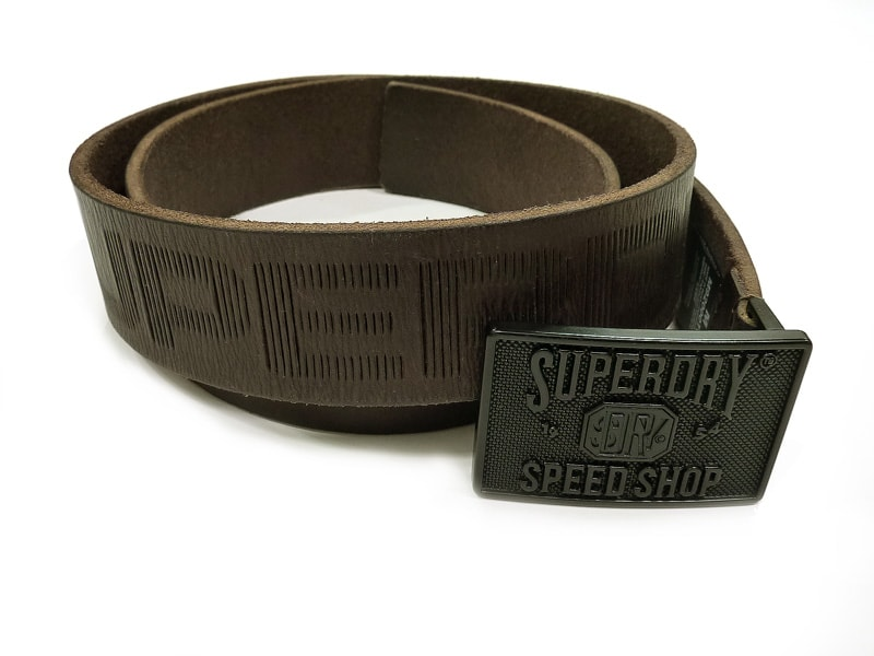 Cinturón Superdry Eastern Belt Marrón