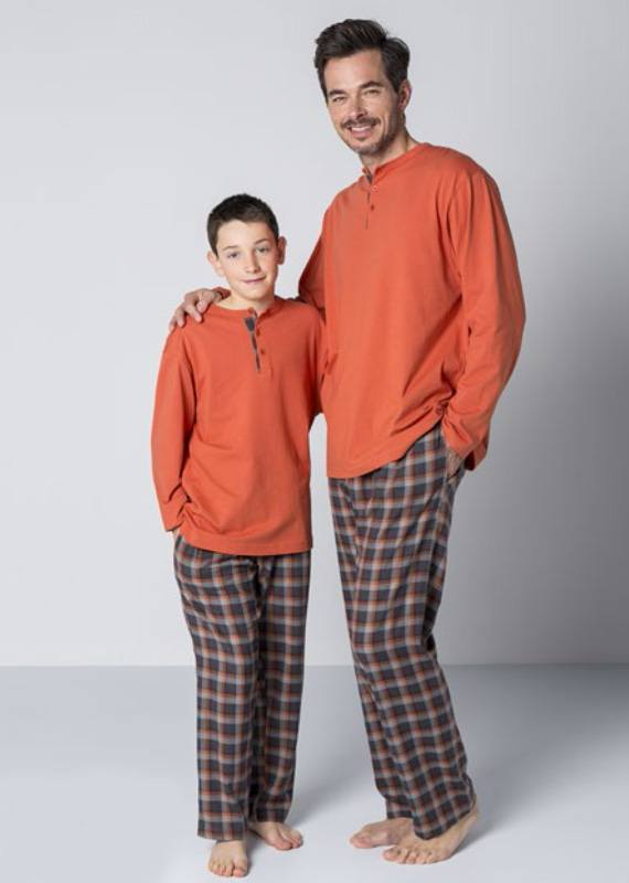 Pijama Guasch Algodón Villela Calabaza