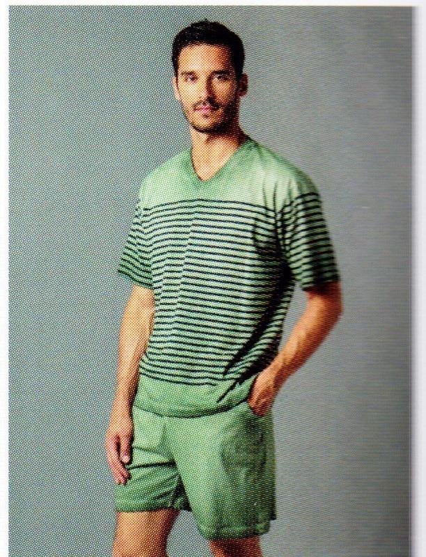 Pijama Listas Verde, Guasch