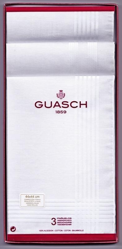 Guasch Caja 3 Pañuelos Hombre Blancos  Karnak