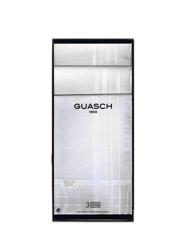 Caja con 3 Pañuelos Guasch Luxor. Rulo a Mano