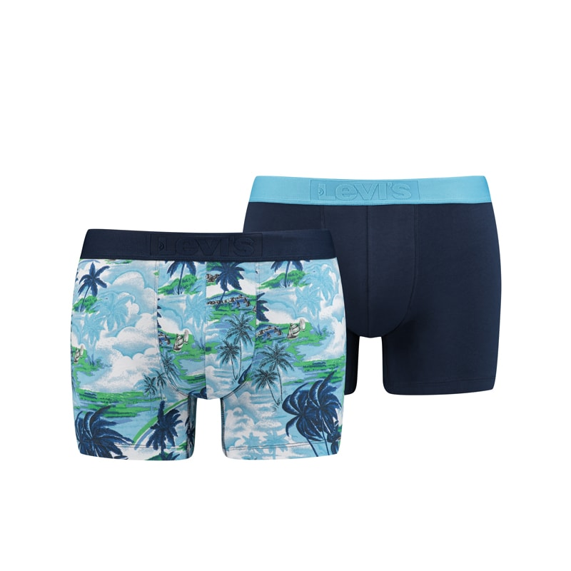 Pack 2 Boxers Levi´s 200 Series Tropical Azul