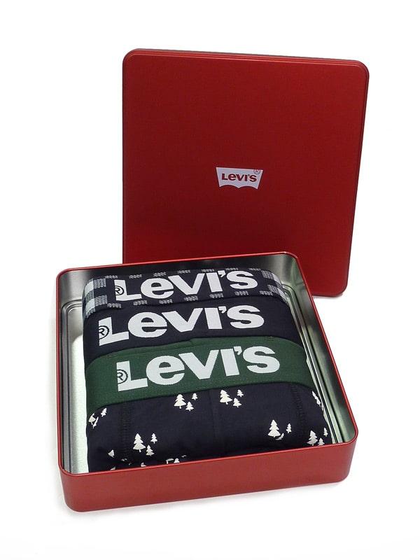3 Pack Boxers Levi´s Caja Ed. Navidad Verde