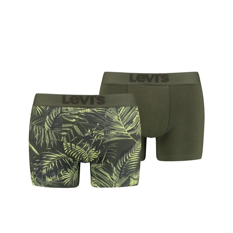 Pack 2 Boxers Levi´s estampado tropical en verde