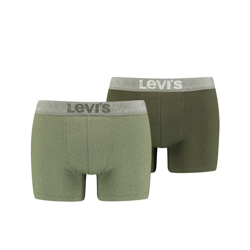 Pack 2 Boxers Levi´s con topitos en verde