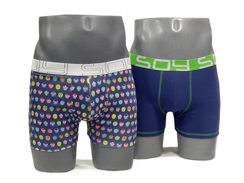 2 Pack Soy Underwear Boxer Máscara de Lucha Libre