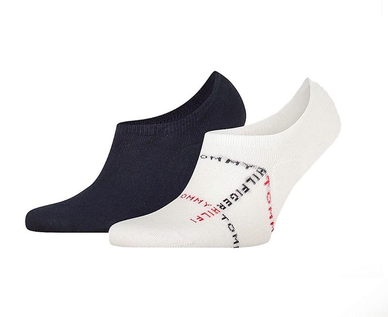 Pack de Calcetines Invisibles Tommy con logo en blanco y marino