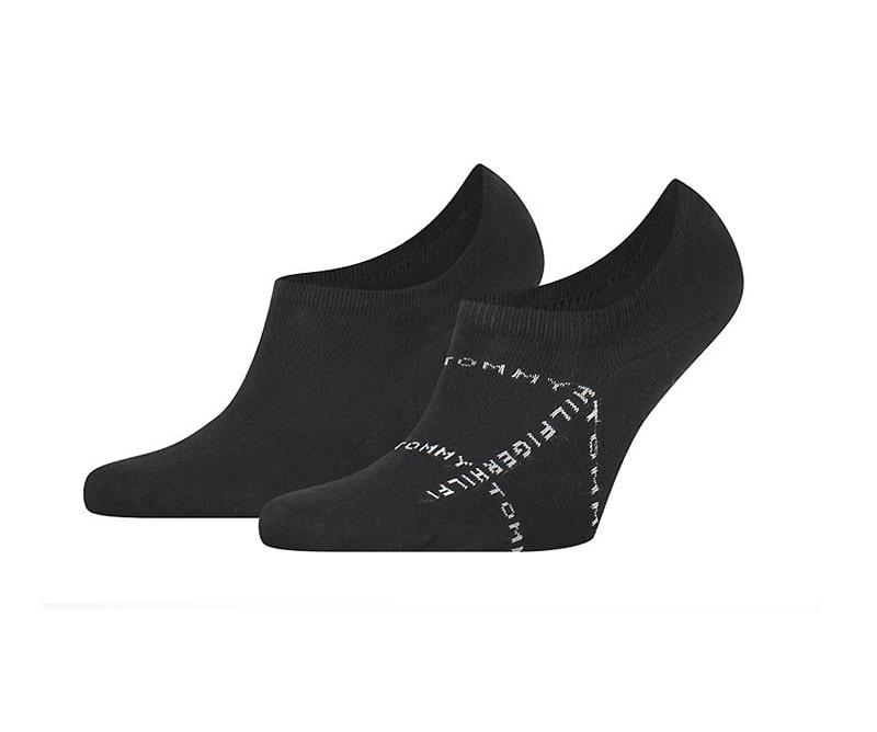 Pack de Calcetines Invisibles Tommy con logo en negro