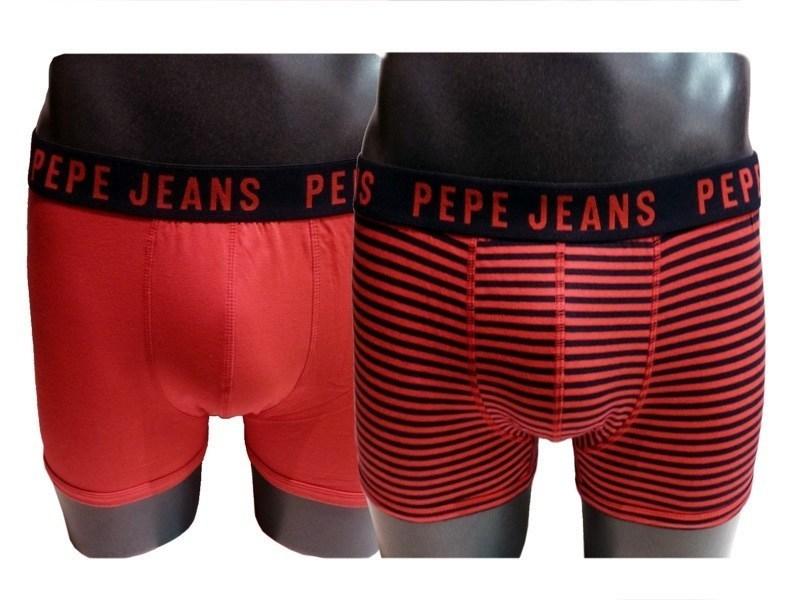 2Pk Trunk Dillon boxers Pepe Jeans, rojo