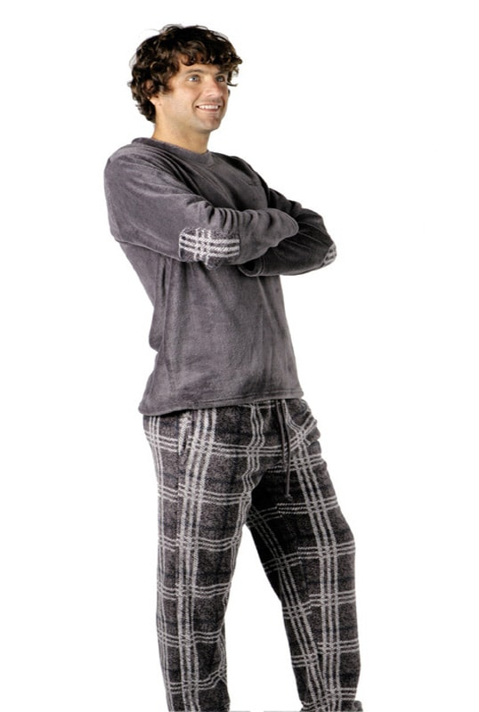 Gris Man Polar Térmico Pijama Pettrus IF7U66