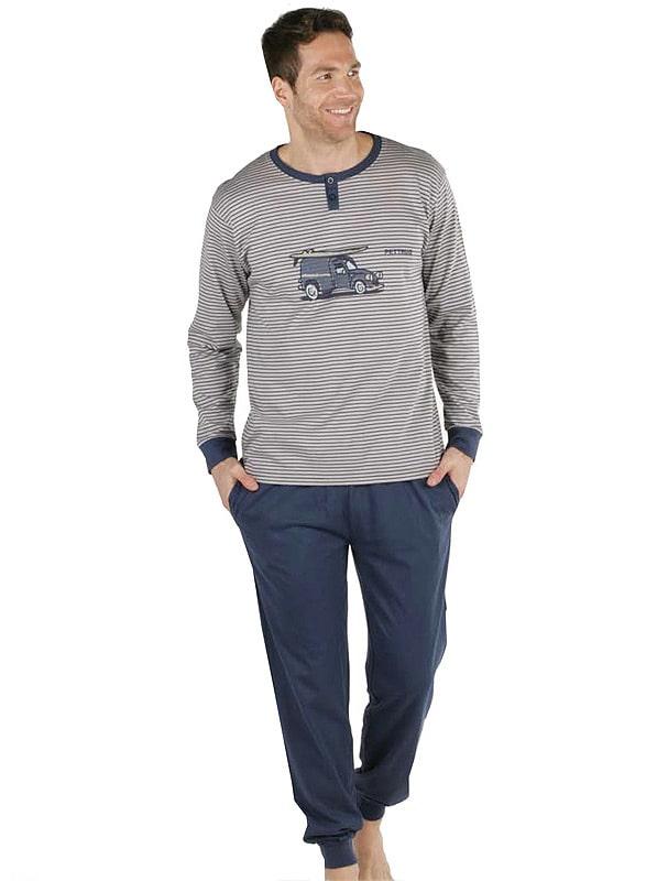 Pijama Pettrus Man Dyane en algodón con puños