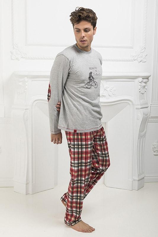Pijama Barandi Romeo Hombre combinado cuadros