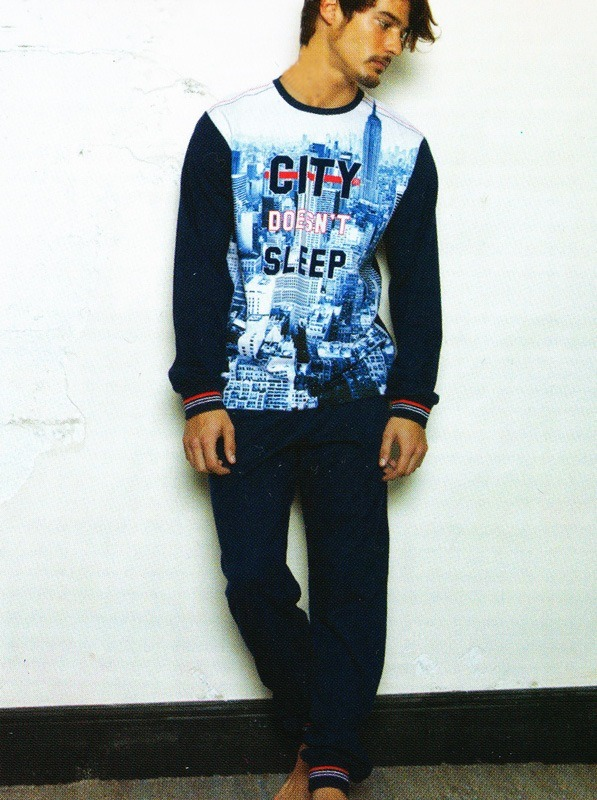 Pijama Admas New York con puños