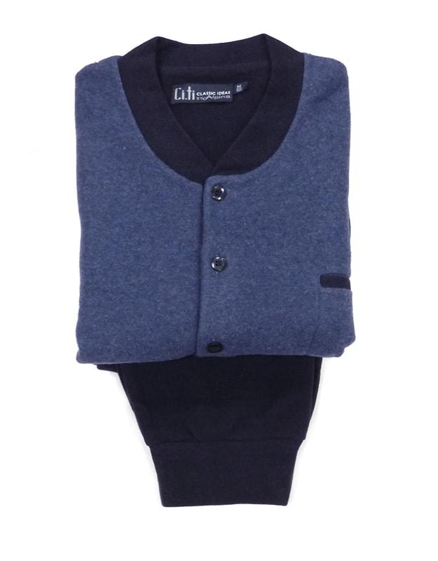 Pijama Alpina Térmico Polar en azul marino con puños