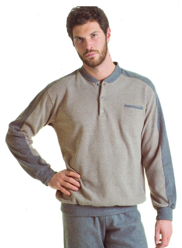 Pijama Alpina Térmico Polar beige con puños